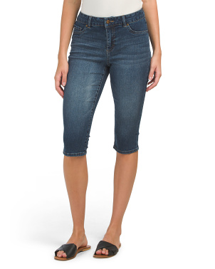 Petite High Waisted Denim Capris