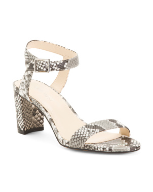 Double Band Snake Heel Sandals