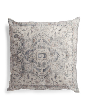 30x30 Oversized Distressed Medallion Floor Pillow