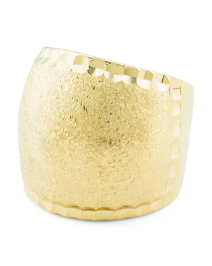 Made In Italy 18k Gold Plated Sterling Silver Brushed Ring