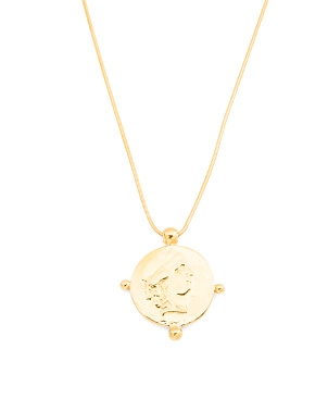 Made In Italy 18k Plated Sterling Silver Coin Necklace