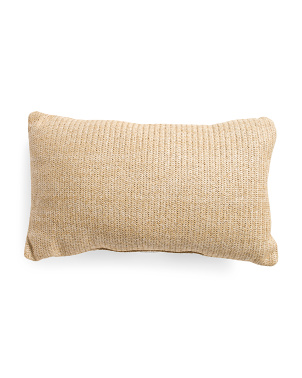 14x24 Indoor Outdoor Natural Fiber Lumbar Pillow