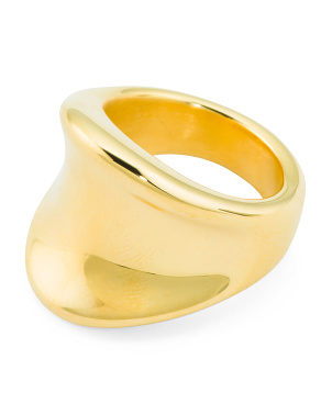 Made In Italy 14k Gold Concave Band Ring