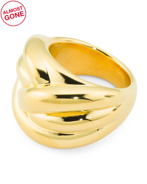 Made In Italy 14k Gold Electroform Knot Ring