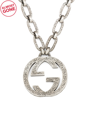 Made In Italy Sterling Silver Interlocking G Necklace