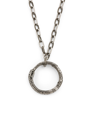Made In Italy Sterling Silver Ouroboros Necklace