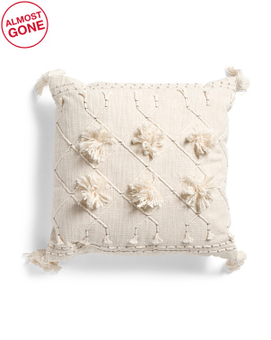 20x20 Tufted Embroidered Pillow