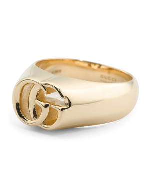 Made In Italy 18k Gold Running G Ring