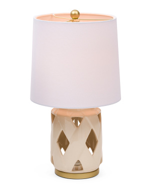 Lattice Ceramic Table Lamp