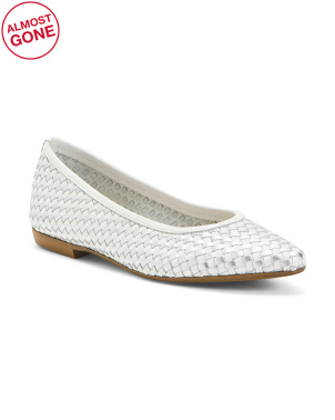 Made In Italy Woven Leather Flats