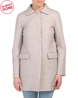 Made In Italy Padded Quilted Spring Coat
