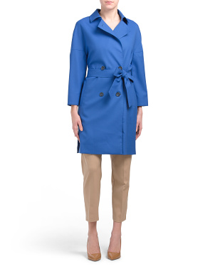 Made In Italy Wool Blend Belted Coat
