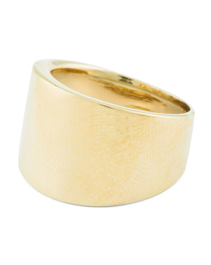 Made In Italy 14k Gold Cigar Band Ring