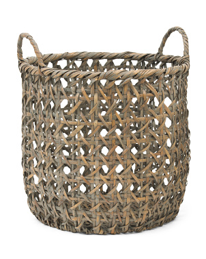 Round Can Basket With Ear Handles