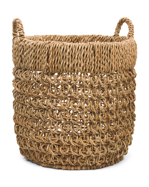 Round Tub Basket In Betty Coin Weave