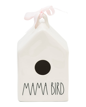 Square Mama Bird Birdhouse With Two Birds Icon