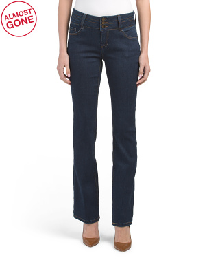 Triple Button Booty Lifter Skinny Bootcut Jeans