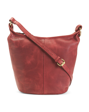 Leather Distressed Cara Crossbody