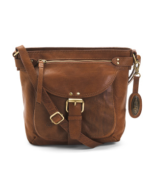 Leather Distressed Pearce Crossbody