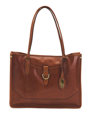 Leather City Tote