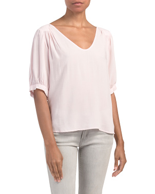 Marise Short Sleeve Puff Shoulder Top