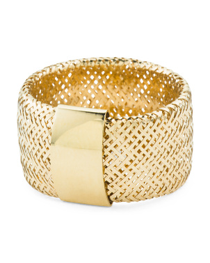 Made In Italy 14k Gold Stretch Ring
