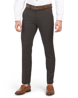 Wool Blend Slim Forsythe Dress Pants