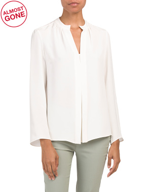 Kara Long Sleeve Silk Blouse