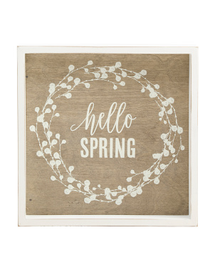 12x12 Framed Hello Spring Sign