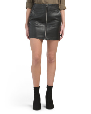 Heidi Leather Skirt