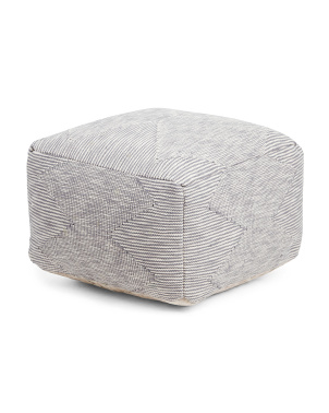 22x22x14 Diamond Textured Pouf