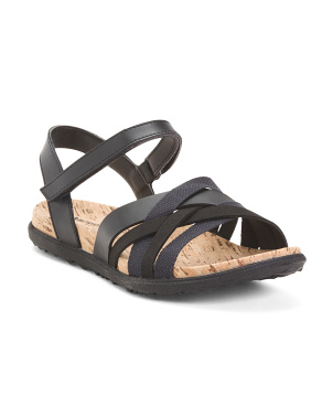 Leather Comfort Strappy Sandals