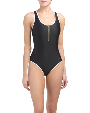 Zip One-piece Swimsuit