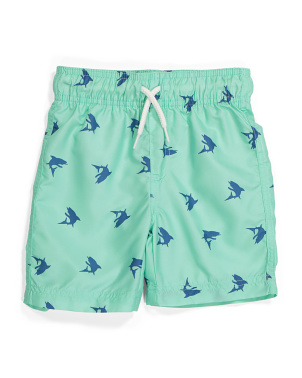 Boys Shark Swim Trunks