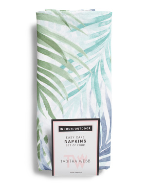 Set Of 4 Indoor Outdoor Atlantis Tropical Napkins