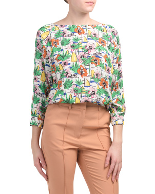 Blouse All Over Jungle Printed Top