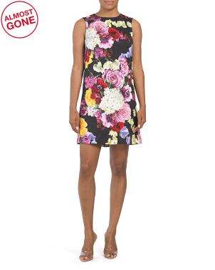 Made In Italy Floral Jacquard Dress