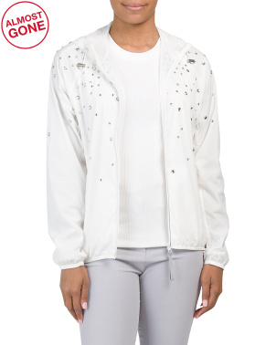 Rhinestone Windbreaker Jacket