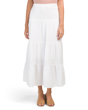 Organic Cotton Tiered Skirt