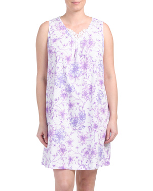 Sleeveless Floral Nightgown