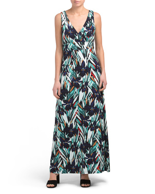 Printed Surplus Maxi Dress