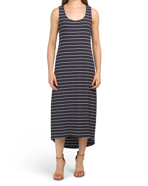Stripe Knit Midi Dress