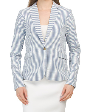 City Fit Blazer With One Button