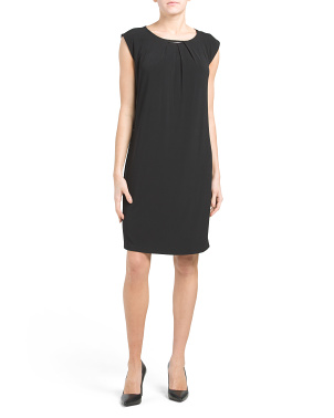 Sheath Dress With Metal Hardware