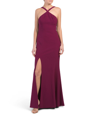 Brianna Halter Mermaid Gown