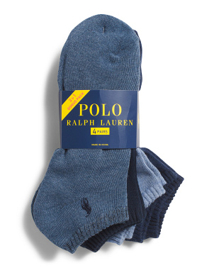 4pk Low Cut Socks
