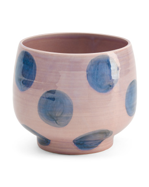 Made In Portugal Dots Footed Ceramic Planter