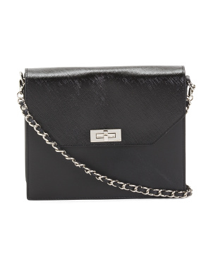 Karina Patent Leather Crossbody With Chain Strap