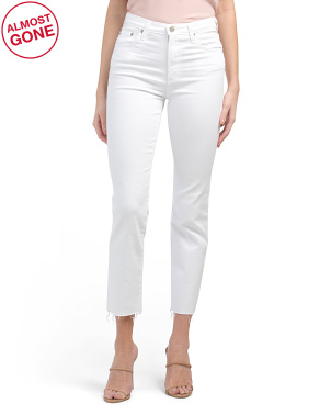 Made In Usa Isabelle High Rise Straight Crop Jeans