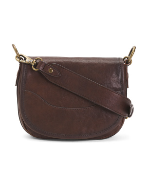 Leather Lucy Saddle Crossbody